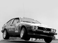 Alfa Romeo GTV rally car