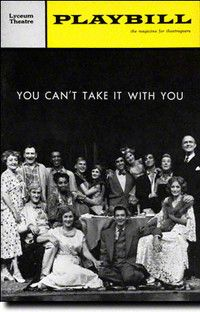 You Can't Take It With You at the Lyceum Theatre.  Nov 1965.