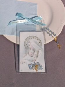 baptism finger rosary favors, unique baptism favors personalized