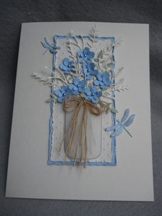 Blue bouquet blue flowers 'forget me not' posies