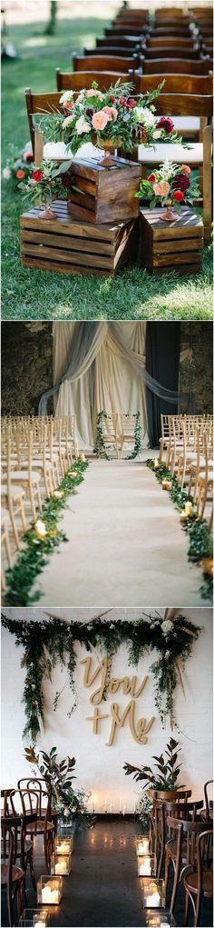chic rustic wedding ceremony decoration ideas