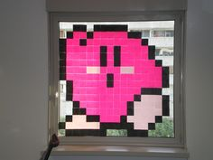 Kirby in Post-It War -- cave council activity? Teen Programs, Library Programs, Teen Library, Library Ideas, Art Post-it, Inspiring Things, Inspiring Quotes, Post It Art, Summer Reading Program