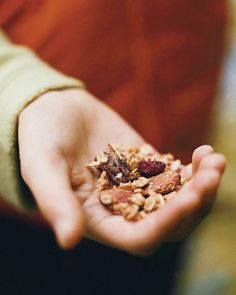Maple-Almond-Banana Trail Mix : Trail mix is a tasty, high-energy snack; pack a few handfuls per person for the next picnic or walk in the woods.