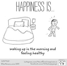 Happiness is. Cute Happy Quotes, Happy Quotes Inspirational, Buddha Thoughts, Happy Thoughts, Wisdom Quotes, Life Quotes, Qoutes, Happy Cartoon, You Make Me Happy