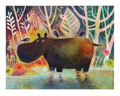 Matt Forsythe - Art print - Hippo - Sur ton mur - 2