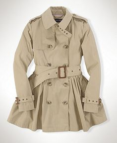 Ralph Lauren Childrenswear Girls' Peacoat - Sizes 7-16 ...