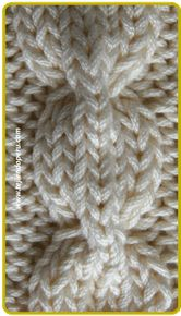 Trenza u ocho cadena . pinning several pictures of cables from this information-rich webpage Cable Knitting Patterns, Knitting Stiches, Knitting Videos, Crochet Videos, Lace Knitting, Knit Patterns, Crochet Stitches, Stitch Patterns, Knit Crochet