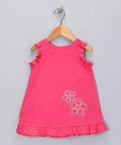 Take a look at this Pink Embroidered Flower Dress - Infant, Toddler & Girls by Fantaisie Kids on #zulily today!
