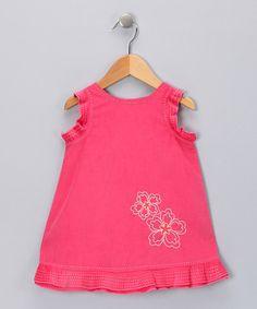 Another great find on #zulily! Pink Embroidered Flower Dress - Infant, Toddler & Girls by Fantaisie Kids #zulilyfinds