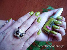 Esmalte Colorama Retângulo Verde www.blogcasademaria.com.br
