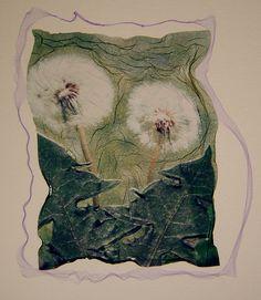 Dandelions Polaroid Emulsion Lift by John Fobes