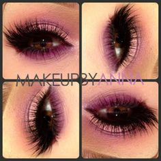 @Sugarpill Cosmetics Burning Heart Palette @Morphe Brushes Smokey palette and @flutterlashesinc lashes #makeupbyanna #gorgeous #makeup #pink #purple #lashes
