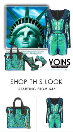 """""""United States of America...."""" by ornellav ❤ liked on Polyvore featuring Kurt Geiger, Pasionae, Nicholas Kirkwood, polyvoreeditorial and yoins"""
