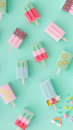 DIY Popsicle Favor Boxes l Oh Happy Day l Great gift box to make yourself l stre . - DIY Popsicle Favor Boxes l Oh Happy Day l Great Gift Box Make Yourself L Matchbox Ice Cream - Diy Instagram, Diy For Kids, Crafts For Kids, Summer Crafts, Diy And Crafts, Paper Crafts, Ideias Diy, How To Make Box, Ice Cream Party