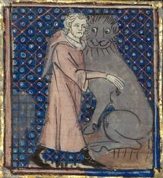 GallicaBnF (@GallicaBnF) | Twitter - diapering in background, but I love the happy lion. :-)
