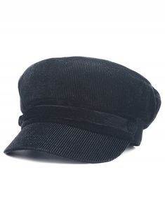Winter Solid Color Button Military Hat - BLACK Hats For Women 5b29c162f6de