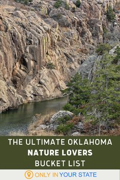 If you're looking to explore the outdoors, don't miss this exciting Oklahoma nature lovers bucket list. Discover swinging bridges, pretty parks, wildlife sanctuaries, rafting, rivers, and more. Places In Usa, Places To See, Vacation Trips, Vacations, Wichita Mountains, Oklahoma Usa, Adventure Bucket List, Whitewater Rafting, Road Trip Usa