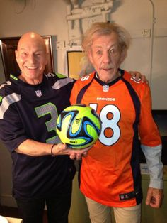 Patrick Stewart and Ian McKellen love the Super Bowl and teasing Americans