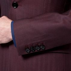 http://chicerman.com - Burgundy herringbone tailored suit