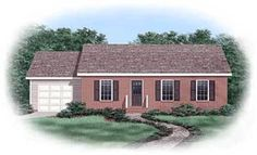 Elevation of Ranch   House Plan 45373