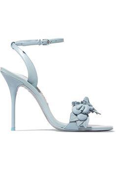 SOPHIA WEBSTER Lilico appliquéd leather sandals. #sophiawebster #shoes #sandals