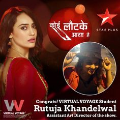 Our 2013 Interior designing student Ms. Rutuja Khandelwal is now working as an Assistant Art Director - Set designing, for a Star Plus show - Koi Laut Ke Aya Hai...Congratulations!