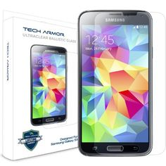 Galaxy S5 Glass Screen Protector, Tech Armor Premium Ballistic Glass Samsung Galaxy S5 Screen Protectors [1]