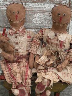 PatternMart.com ::. PatternMart: Christmas Primitive Gingerbread Dolls-SPPO Prim Gingers