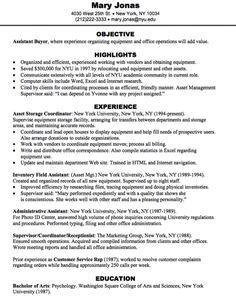 buyer resume profile