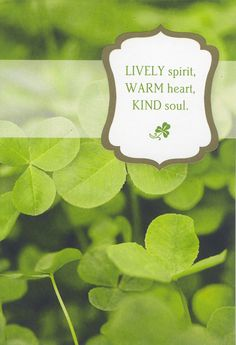 A sweet and simple St. Patrick's Day wish.