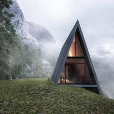 A frame cabin designed by Matthias Arndt
