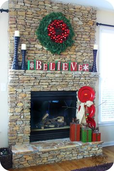 Great Snap Shots Fireplace Mantels christmas Style Fire places are certainly considered one of my top picks elements of your home. They cook an incredible focus . Diy Christmas Fireplace, Diy Fireplace Mantel, Christmas Mantels, Diy Christmas Gifts, All Things Christmas, Holiday Fun, Christmas Crafts, Christmas Decorations, Fireplace Makeovers