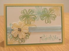 Thank you card with Stampin Up Flower Shop