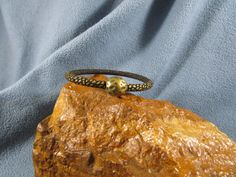 5mm Round Leather Snake Skin Pattern Bracelet with Magnetic Textured Antique Brass Clasp