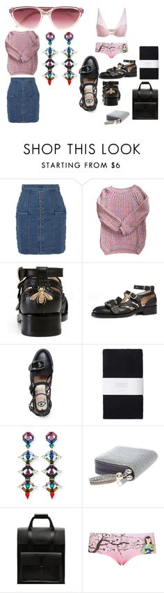 """""""Approaching The End Of 2016"""" by michelle858 ❤ liked on Polyvore featuring Balmain, Scarlet Roos, Gucci, Toast, DANNIJO, claire's, Dr. Martens, Topshop and Yves Saint Laurent"""