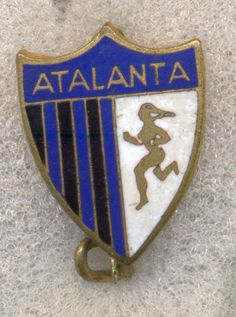 HARD ENAMEL FOOTBALL BADGE SAFETY  PIN  ATALANTA BERGAMO ITALY