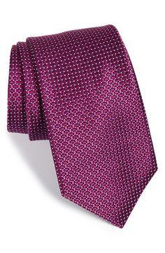 Men's Nordstrom 'Small Basket Weave Neat' Woven Silk Tie