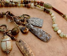 Spirit Beads Lariat Necklace for Meditation by DesertTalismans