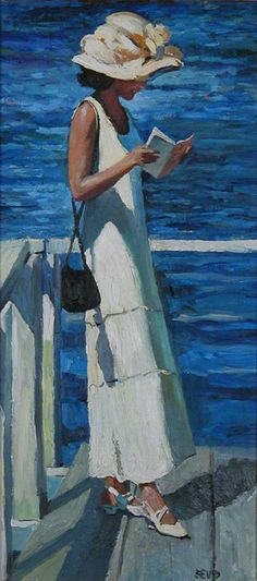 woman reading by Sherree Valentine-Daines
