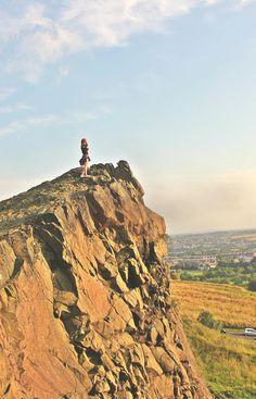 At the Holyrood park in Edinburgh, Scotland Things to do in Edinburgh! #travel-monkey #travel