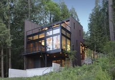 House on slope on pinterest architects house plans and cabin