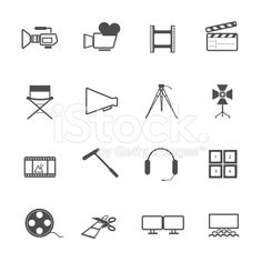 filming tool Icons movie vector royalty-free stock vector art