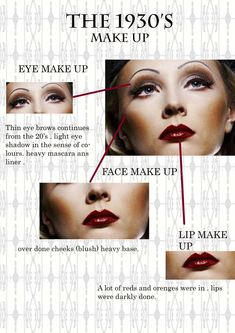 All about the 1930s make up..
