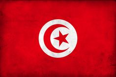 flag of tuisia ,red represents the blood shed by martyrs in the struggle against oppression, white stands for peace; the crescent and star are traditional symbols of Islam and