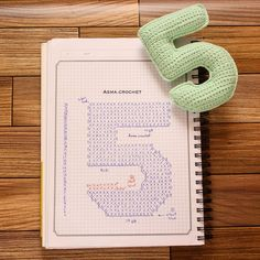. Find what makes you happy and get lost in it. . #crochet #crochet_numbers  #كروشية