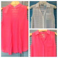 American Eagle sleeveless shirts w/ back pleats
