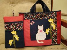 images attach c 7 98 454 Sewing Projects, Projects To Try, Sewing Ideas, Cat Whiskers, Textiles, Silly Cats, Cat Art, Dog Cat, Reusable Tote Bags