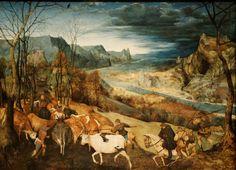 La rentrée des troupeaux - Pieter Brueghel (1565)