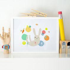 Pastel Nursery, Bunny Nursery, Nursery Decor, Room Decor, Room Posters, Poster Wall, 1st Birthday Gifts, Beautiful Drawings, Neon Colors
