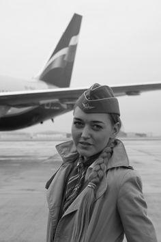 Aeroflot flight attendant